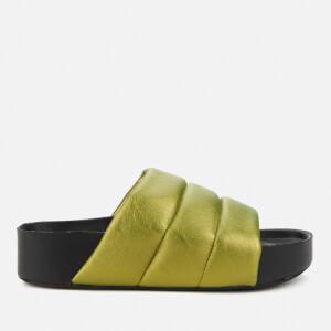 Simon Miller Women's Vegan Dip Slide Sandals - Citron