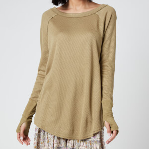 Free People Women's Snowy Thermal Top - Sunstone