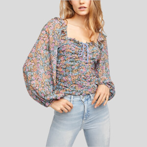 Free People Women's Mabel Printed Blouse - Garden Combo