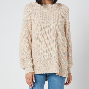 Free People Women's Neon Lights Pullover - Confetti Combo