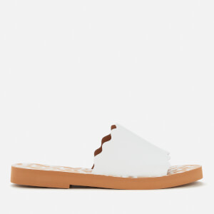 See By Chloé Women's Essie Leather Slide Sandals - White
