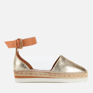See By Chloé Women's Glyn Leather Espadrilles - Gold