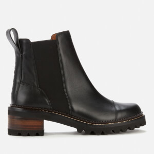 See By Chloé Women's Mallory Leather Chelsea Boots - Black