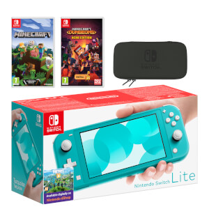 Nintendo Switch Lite (Turquoise) Minecraft Double Pack