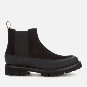 Grenson Men's Abner Suede/Rubber Chelsea Boots - Black