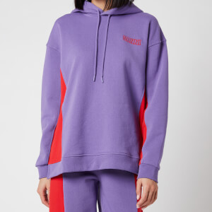 Ganni Women's Software Block Isoli Hooded Top - Deep Lavender