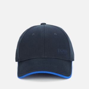 BOSS Athleisure Men's Cotton-Twill Cap with Contrast Under Visor - Navy