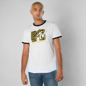 MTV Waves Unisex Ringer T-Shirt - White/Black
