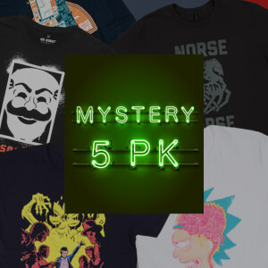 Mystery Kids Geek T-Shirt - 5-Pack