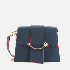 Strathberry Women's Box Crescent Edge Paint Bag - Navy/Raspberry