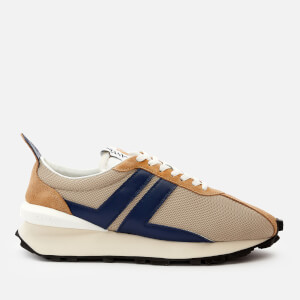 Lanvin Men's Running Trainers - Light Beige/Blue