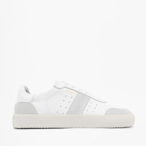Axel Arigato Men's Dunk V2 Leather Trainers - White/Suede