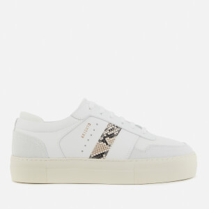 Axel Arigato Women's Detailed Leather Platform Trainers - White/Snake