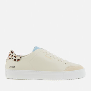Axel Arigato Women's Clean 90 Triple Animal Leather Cupsole Trainers - Cremino/Mini Leopard/Dusty Blue