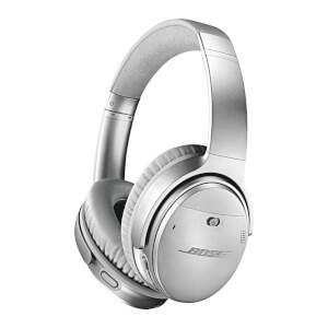 Bose QuietComfort 35 (Series II) Wireless Headphones, Noise Cancelling with Alexa Built-In - Silver