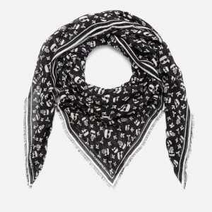 Karl Lagerfeld Women's K/Ikonik Aop Scarf - Black