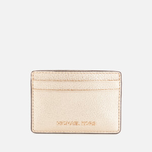 Michael Michael Kors Women's Jet Set Card Holder - Pale Gold
