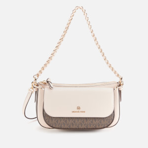 Michael Michael Kors Women's Jet Set Charm Medium Pouch Cross Body Bag - Brown/Soft Pink