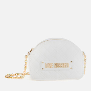 Love Moschino Women's Half Dome Quilted Shoulder Bag - White