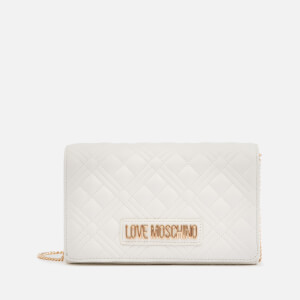Love Moschino Women's Quilted Chain Cross Body Bag - White