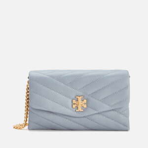 Tory Burch Women's Kira Chevron Chain Wallet - Cloud Blue