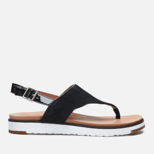 UGG Women's Alessia Suede Toe Post Sandals - Black