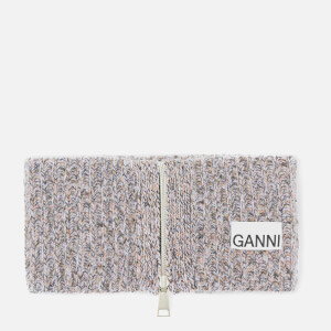 Ganni Women's Block Colour Knitted Recycled Wool Collar - Multi