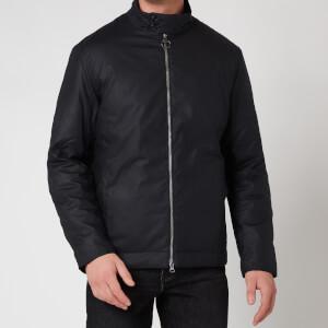 Barbour Tartan Men's Barnby Wax Jacket - Navy