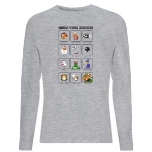 Nintendo Know Your Enemies Unisex Long Sleeve T-Shirt - Grey