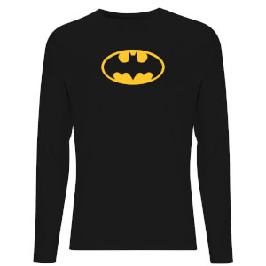 DC Justice League Core Batman Logo Unisex Long Sleeve T-Shirt - Black