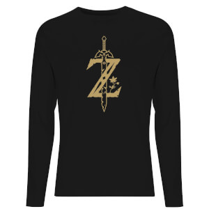 Nintendo Zelda Master Sword  Unisex Long Sleeve T-Shirt - Black