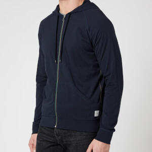 PS Paul Smith Men's Tape Zip Through Hooded Sweatshirt - Inky