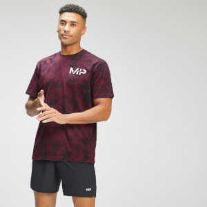 MP Men's Adapt Tie Dye Short Sleeve Oversized T-Shirt   Black/Merlot   MP