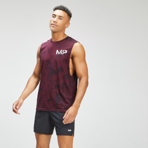 MP Men's Adapt Tie Dye Tank Top | Black/Merlot | MP