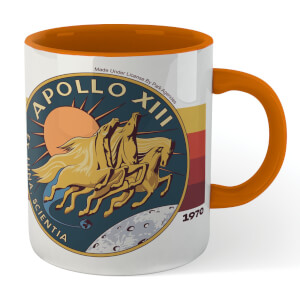 NASA Boldly Go Mug - White/Orange