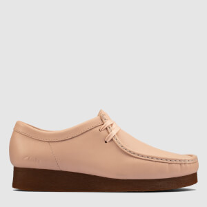 Clarks Women's Wallabee Suede Shoes - Light Pink