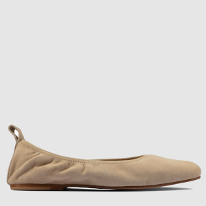 Clarks Women's Pure Leather Ballet Flats - Taupe