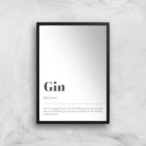 Gin Definition Giclee Art Print