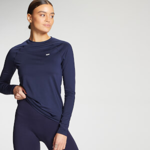 MP Women's Essentials Training Slim Fit Long Sleeve Top - Navy