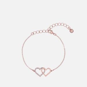 Ted Baker Women's Larsae: Crystal Linked Hearts Bracelet - Rose Gold/Crystal