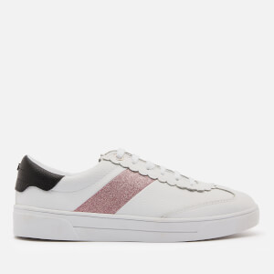 Ted Baker Women's Allva Leather Cupsole Trainers - White/Pink