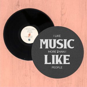 I Like Music More Than I Like People Slip Mat