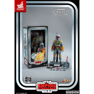 Hot Toys Movie Masterpiece - 1/6 Scale Fully Poseable Figure: Star Wars Episode V The Empire Strikes Back - Boba Fett