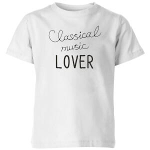 Classical Music Lover Kids' T-Shirt - White
