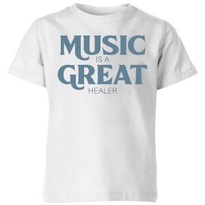 Music Is A Great Healer Kids' T-Shirt - White