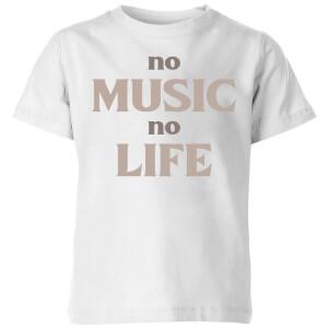 No Music No Life Kids' T-Shirt - White