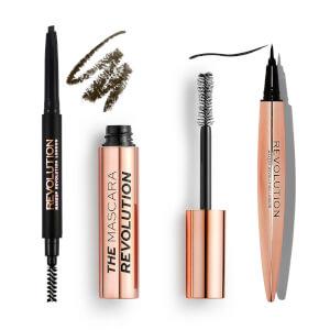 Revolution Mascara + Brow Pencil/Gel + Eyeliner