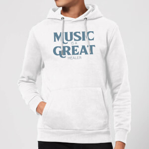Music Is A Great Healer Hoodie - White