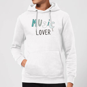 Music Lover Hoodie - White