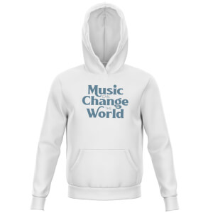 Music Can Change The World Kids' Hoodie - White
